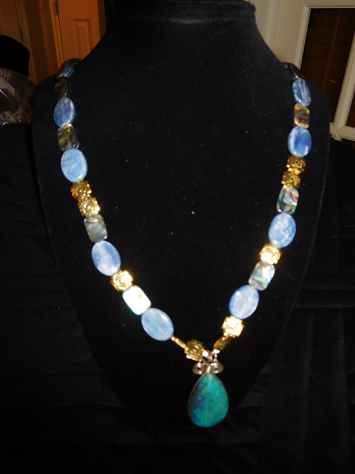 Necklace with Chrysocolla Pendant