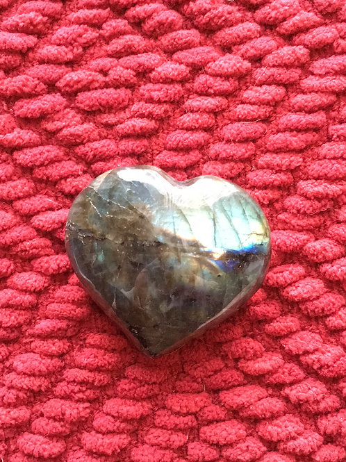 Madagascar Labradorite Heart