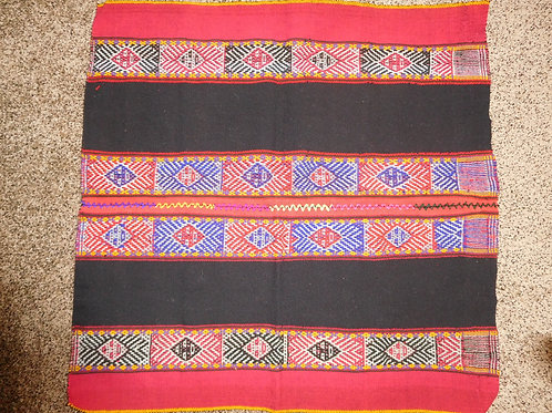 Marvelous Red and Blue Weaving Mastana with Sun Symbol