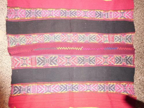 Qero Traditional Mastana Red and Dark Grey/Black with Tawantisuyu