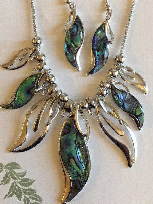 Lovely Leaf Resin Necklace & Earrings