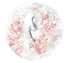 春結びの日 2018  和紙,木製パネル,墨,顔彩