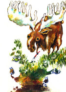 EARTH the canvath -Moose. ホルベイン画材コラボレーションクロッキーイラスト holbein croquis memo.