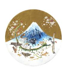 干支、新春の道をゆく。 2018