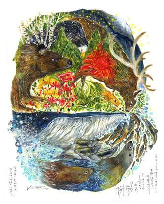シルエトク'17 SHIRUETOKIU ーシルエトク。 そこは地の果てと呼ばれている。 命の宿る場所であり、 命の逝く場所であり。 彼らにとって命の中心の都なのだ。 凍える朝も、孤独の夜も ただひたすらにその命を全うする。 北の地の果てに広がる物語りは、 新たな地の始まりの物語り。