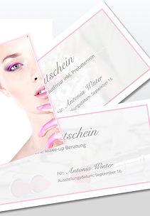Geschenkgutschein für professionelles Make-up, Make-up Artist und Visagstin aus Raesfeld, Dozentin für Make-up Beratung in Borken, Recklinghausen, Wesel und NRW
