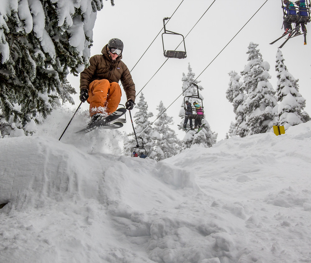 Chairlifts provide narrow previews to exquisite terrain; focus and precise muscle control allow us to connect with complex topography in intricate ways.