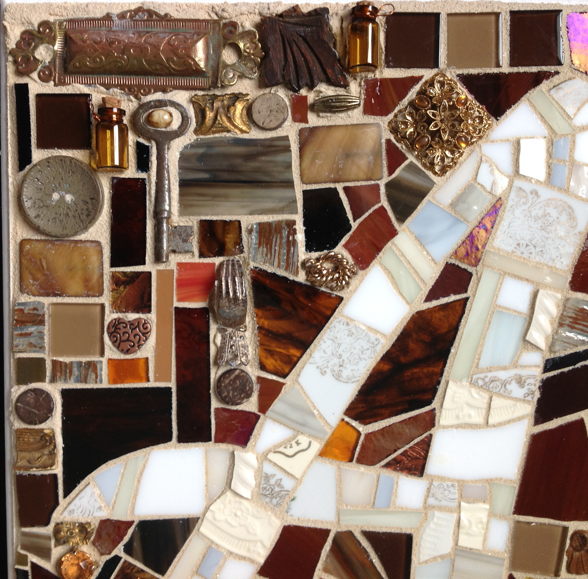 A mosaic close up