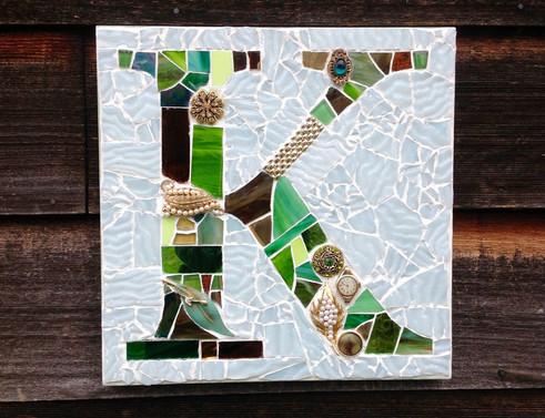 K mosaic monogram