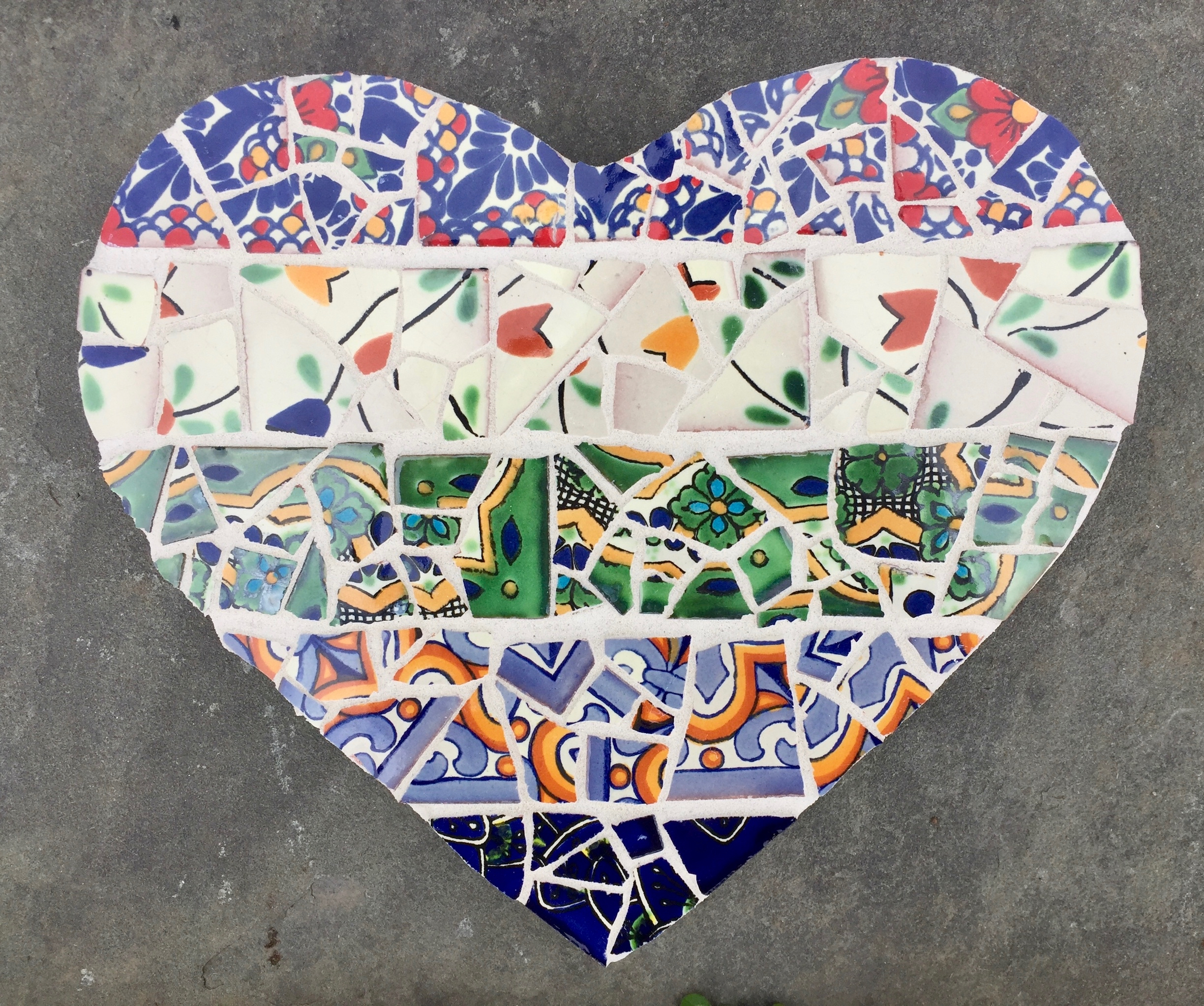 broken Mexican tiles heart