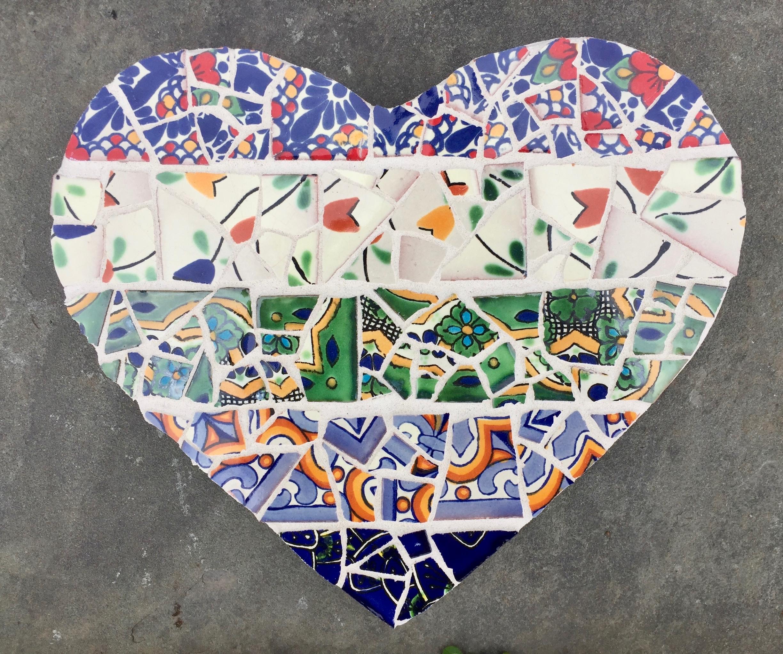broken Mexican tiles heart