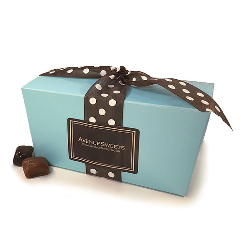 Large Pastel Blue Gift Box - 1 lb. (approx. 35 caramels)