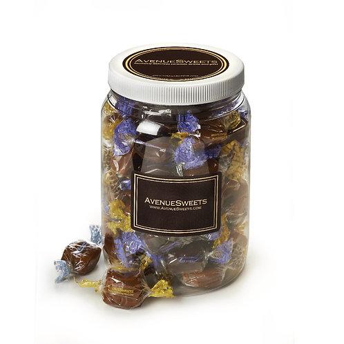 Organic DAIRY FREE vegan caramels: Half gallon jar - 2 lbs. (approx 70 caramels)