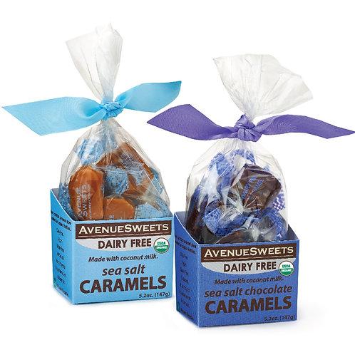 Organic DAIRY FREE vegan caramels 2-pack: 5.2oz box (approx. 12 caramels)