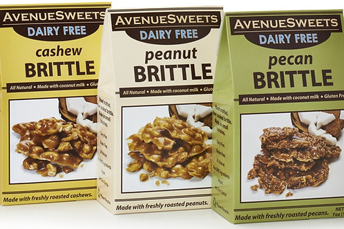 Organic DAIRY FREE Vegan 7oz. Brittle Boxes: case size = 12