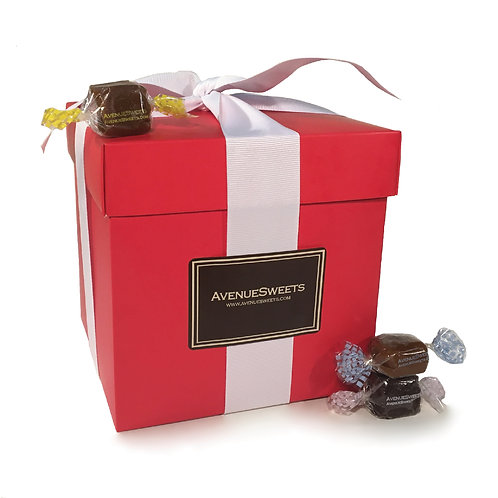 2pc. Red Gift Box - 2.5 lbs. (approx. 90 caramels)