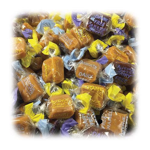 Organic DAIRY FREE vegan caramels: 1 lb. wrapped (approx. 35 caramels)