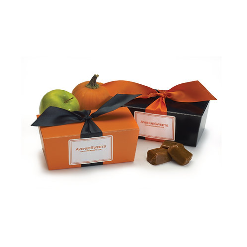 Black & Orange Gift Box Special - 1 lb. (approx. 18 caramels/box)