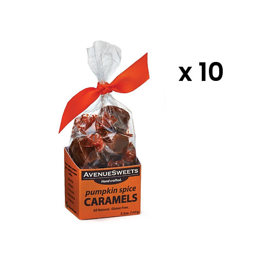 5.2oz Pumpkin Spice Caramels: Buy 10.  Save $7.50 (approx. 120 caramels)