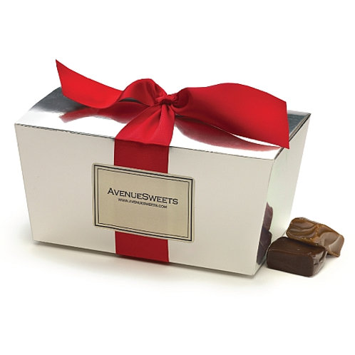 1 lb. Ballotin-style Gift Box Special: Buy 5. Save $15. (approx 35 caramels/box)