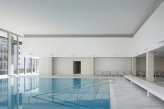 Swimming pool OVAVERVA St. Moritz , Switzerland