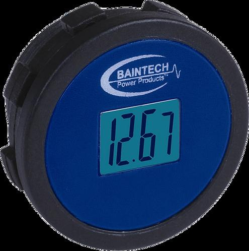 Baintech Flush Mount Single DC 12V LCD Voltmeter