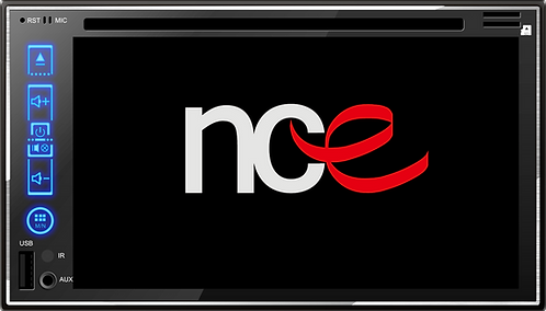 NCE Double DIN Touch Screen DVD/CD Player (NCE869DVDTOUCH)