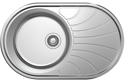 NCE 770mm One Piece Round Sink with Off-centre Drain