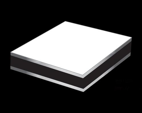 White Aluminium Panel : Aluminium composite panel white mill