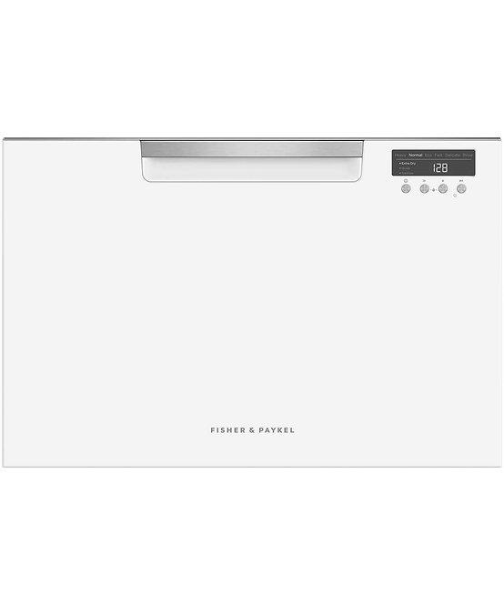 Fisher & Paykel White DishDrawer Dishwasher, 7 Place Settings, Sanitise