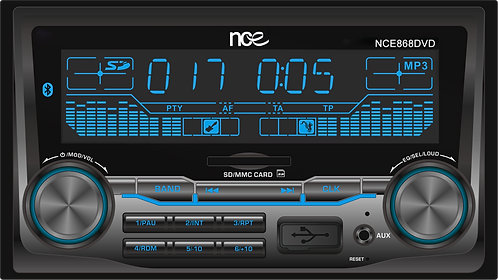 NCE Double DIN DVD/CD Player with Bluetooth (NCE868DVD)