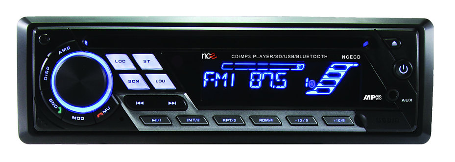 NCE Single Din CD Player With Bluetooth