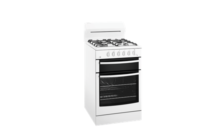 Westinghouse White 54cm Freestanding Gas Fan Forced Cooker
