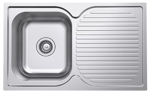 NCE 780mm One Piece Square Sink with Centre Drain