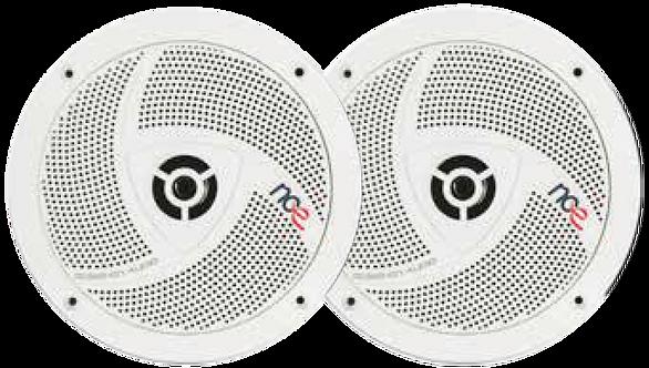 """NCE 6.5"""" Outdoor Slimline Speakers - White"""
