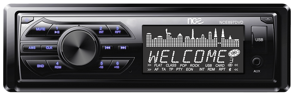 NCE DVD/CD Player with Bluetooth