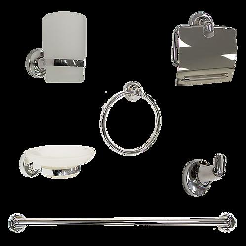 6-Piece Bathroom Accessory Kit