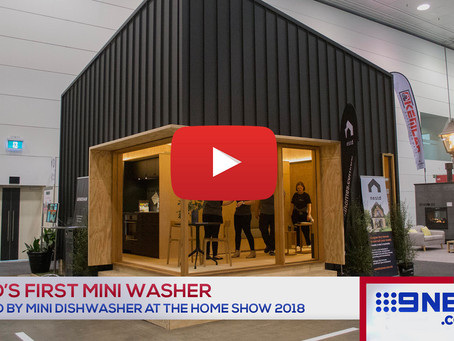 Mini Washer & Mini Dishwasher at Melbourne Home Show 2018