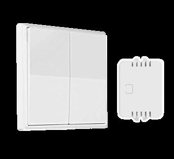 Wireless Two Gang Light Switch (Kinetic Light Switch)