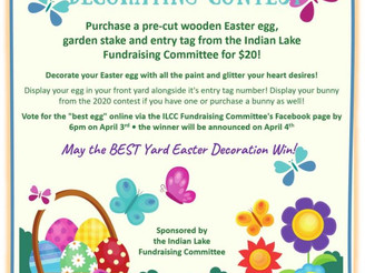 Join in the spring time fun and purchase your yard ornament and entry number here!