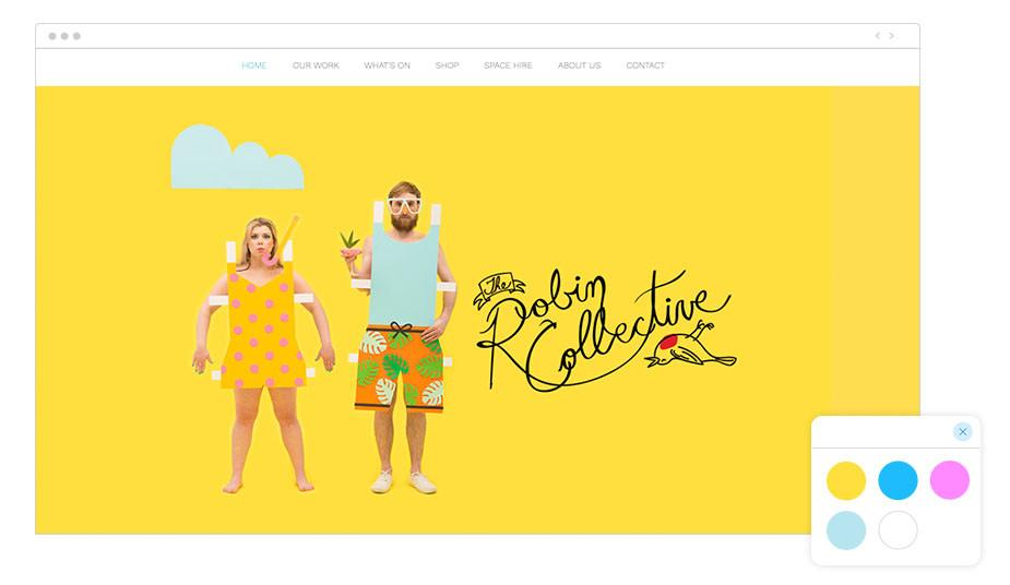 Exemplo de Paleta de Cores: The Robin Collective
