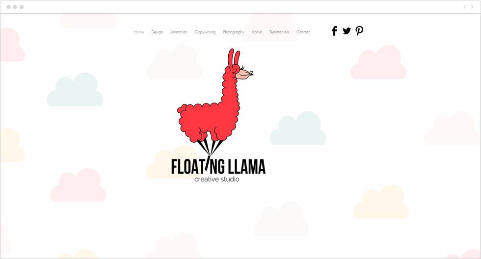 Site Wix de Floating Llama Creative Studio