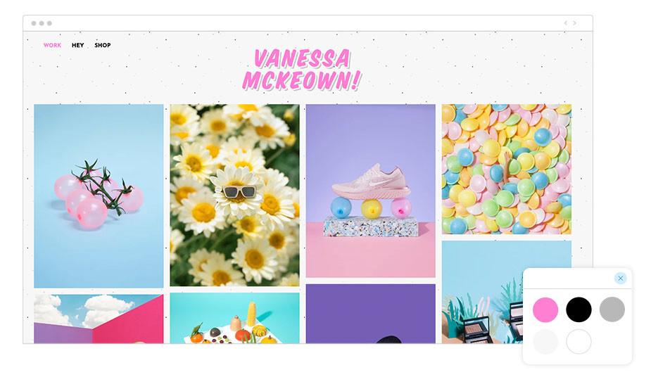 Exemplo de Paleta de Cores: Vanessa McKeown