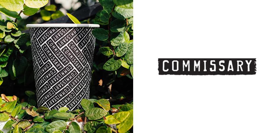 Logo de Commissary, marca de café e usuário Wix