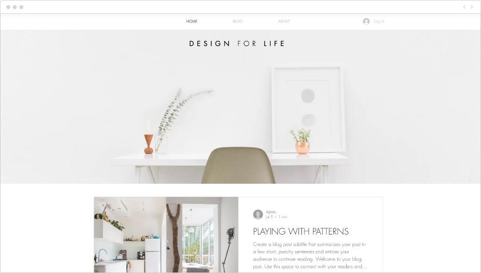 Template Blog de Estilo e Design