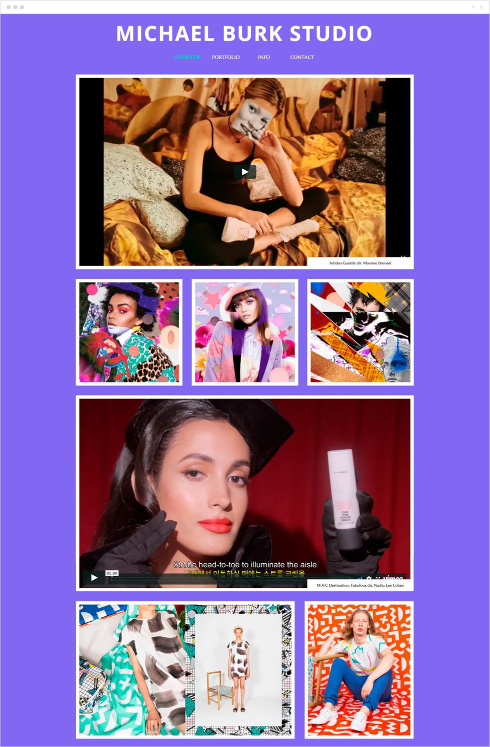 Site Wix de Michael Burk Studio