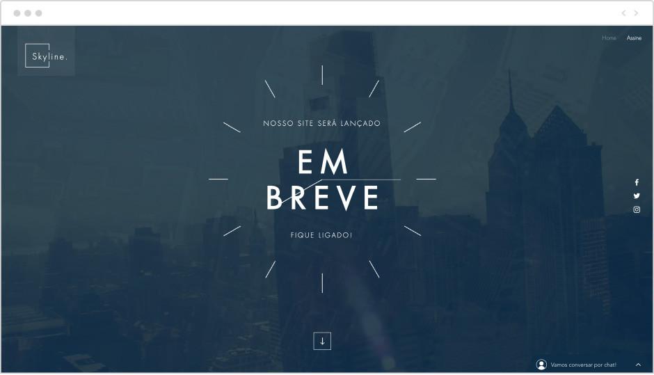 Template Em Breve - Landing Page