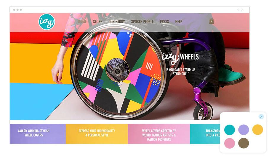 Exemplo de Paleta de Cores: Izzy Wheels