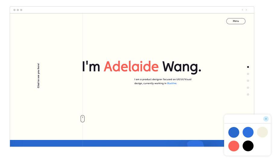 Exemplo de Paleta de Cores: Adelaide Wang