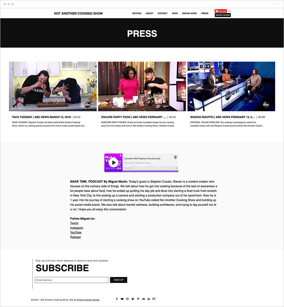 Exemplos de press kit